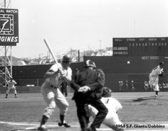 Giants vs. Dodgers on opening day, April 15, 1958 at Seals Stadium in San Francisco. The first time the two teams faced each other on the west coast after moving from New York.