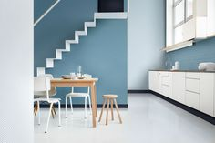 Hallway colour ideas dulux colour of the year denim drift family tonal colour palette blue hues Dulux Paint Colour Of The Year, Color Of The Year 2017, Blue Paint Colors, Dulux Color, Denim Drift Dulux Paint, Dulux Blue, Hallway Colours, Home Trends, Cuisines Design