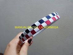 Tejido de diademas sandalias en cinta de raso o gross headbands woven tape No.91 - YouTube