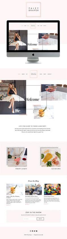 classy , fun & feminine Squarespace website design | designed by: golivehq.co