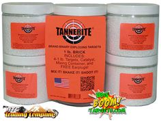 108ecbf777c Tannerite 4 pack of 1-lb binary exploding explosive rifle targets