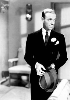 Fred Astaire.  A lot of adjectives come to mind when one mentions Fred Astaire: debonair, poised, elegant, captivating. And nouns too, especially grace, sophistication and talent. He wasn't particularly handsome, nor did he have a singing voice comparable to so many of the romantic crooners of his day. But Astaire didn't need those standbys -- he could dance like no one else.