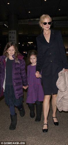 It's possible that they may not be heading to the Land Down Under just yet, but the actress will end up there soon, as her children accompanying her were the ones she shares with Keith Urban.