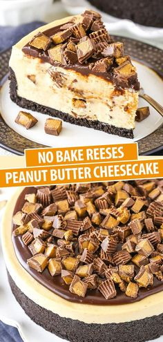 cheesecake recipes This No Bake Reese's Peanut Butter Cheesecake is smooth, creamy and full of peanut butter! It's an easy cheesecake to make, and it's perfect for any peanut butter Reese's Peanut Butter Cheesecake, Baked Cheesecake Recipe, Best Cheesecake, Reeses Peanut Butter, Peanut Butter Recipes, Easy No Bake Cheesecake, Peanutbutter Cheesecake Recipes, No Bake Cheescake, Peanut Butter Cakes