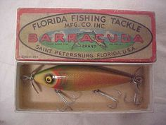 VINTAGE BARRACUDA SHINER MINNOW FISHING LURE IN BOX L@@K