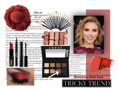 """Red of Night"" by emilymangels04 ❤ liked on Polyvore featuring beauty, Jane Iredale, LORAC, Lord & Berry, Stila, Surratt, Bobbi Brown Cosmetics, red and redeye"