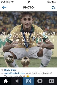 Success is earned Football Motivation, Football Quotes, Soccer Quotes, Messi And Neymar, Messi And Ronaldo, Lionel Messi, Good Soccer Players, Fc Barcelona, Motivation Inspiration
