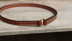 Bridle leather ID collar - Identity tags hanger
