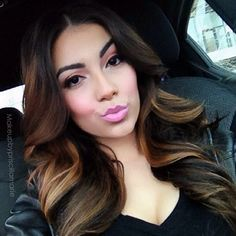 <3 highlights brunette lowlights long hair