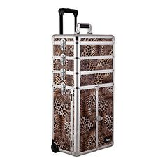 Sunrise Outdoor Travel Leopard Trolley Makeup Case - I3365 -- Want to know more, click on the image.