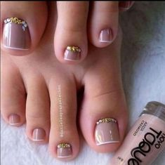 Pretty Toe Nails, Cute Toe Nails, Pretty Toes, Gorgeous Nails, My Nails, Fall Toe Nails, Pedicure Designs, Manicure E Pedicure, Toe Nail Designs