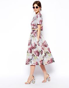 ASOS salon jacquard floral top and skirt