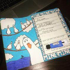 Mine mine! #wtj #wreckthisjournal #pixar #disney #findingnemo #mineminemine