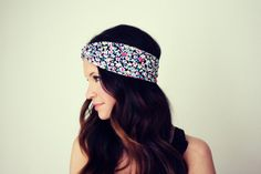 Flower Market - Twisted Turban Style Headband $14.00
