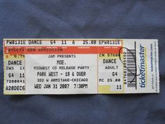 Moe., Park West, 1/31/2007, 25.00