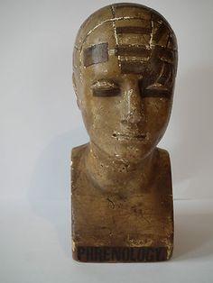 Antique Phrenology Head By Vago miniature, inchy, drawers, trinkets
