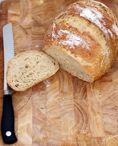 This is no-knead bread, simplified. In a perfect world, I would make all of my family's food from scratch. This is not a perfect world. However, I have fiddled with this recipe to the point where it is easier to bake bread than to go to the store and buy...