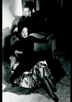 Marlene Dietrich and her daughter, Maria Riva