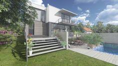 Einfamilienhaus mit Pool - Lumion 5.3 Renderzeit: 15 Sekunden