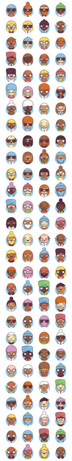 Big Heads Characters Free Illustrations - uistore.design Flat Illustration, Free Illustrations, Character Illustration, Character Design Inspiration, Characters, Big, Store, People, Figurines