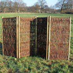 Amazing garden screen wood NATSIQ by Frank Lefebvre u Bastien Taillard BLEU NATURE front