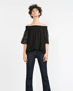 Image 2 of SEQUINNED BLOUSE from Zara