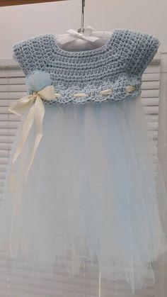 crochet baby dress circular yoke - Google-søk