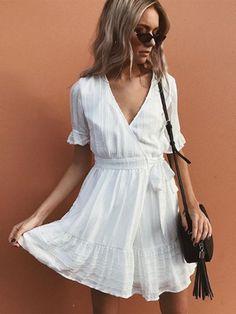 e7bf9ef46ff 32 Best White Mini Dress images | Short dresses, White dress, Summer ...