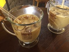 Ice Caffe Latte in Little Brown