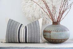 HMONG Hemp lumbar indigo Pillow Cover | Etsy
