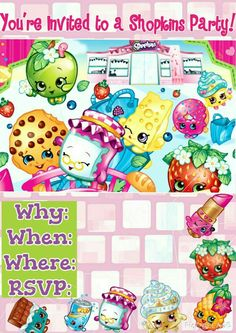I made this shopkins invite myself! You can use it if you want, you don't need to give credit! ☺