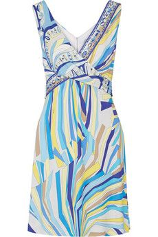 Emilio Pucci Woman Stretch-ponte Dress Turquoise Size 44 Emilio Pucci PyrBlieEo