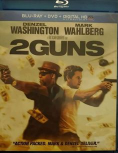 2 Guns (2013) Movies For Sale, Great Movies, Bill Paxton Movies, 2 Guns, Undercover Agent, Drug Cartel, Denzel Washington, Electronic Media, Universal Studios