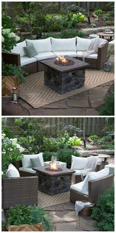 Sectional Fire Pit Set   Arrange In A Variety Of Ways.