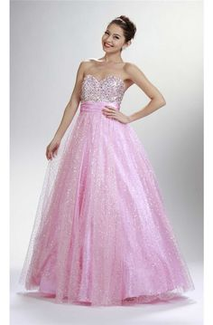 Shinning A Line Sweetheart Corset Pink Tulle Sequined Prom Dress Prom Dresses Long Pink, Grad Dresses Short, Pink Party Dresses, Prom Dresses 2017, Prom Dresses For Sale, Strapless Dress Formal, Formal Dresses, Dress Shorts Outfit, Designer Prom Dresses