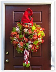 Elf Deco Mesh Wreath