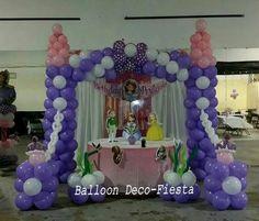 princesa sofia decoracion fiesta globos - Buscar con Google
