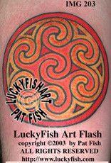 Aberlemno Cross Circle Celtic Tattoo Design 1