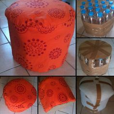 3 pufs con objetos reciclados | Hacer bricolaje es facilisimo.com