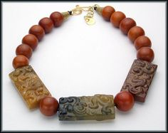 DRAGONS  Handcarved Jade  Amber Resin  by sandrawebsterjewelry, $179.00