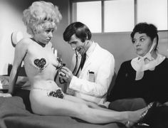 Barbara Windsor, Jim Dale & Hattie Jacques in Carry On Again Doctor.