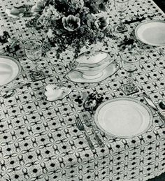 Tulip and Lilac Tablecloth Pattern Free Crochet Pattern