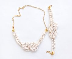 Ivory wedding Matching better set  Nautical Knot  Rope by pardes  pardes.etsy.com