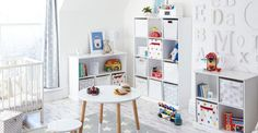 Abbeville Storage Shelf Unit, White - Great Little Trading Company