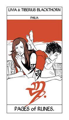Livia and Tiberius Blackthorn | Cassandra Jean Tarot Card | The Dark Artifices