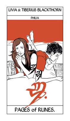 Livia and Tiberius Blackthorn | Cassandra Jean Tarot Card | The Dark Artifices