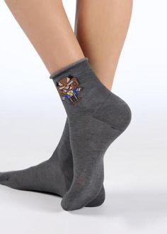 3 paia di calzini corti con motivo a corona per neonato e bambina 1# S elastici antiscivolo