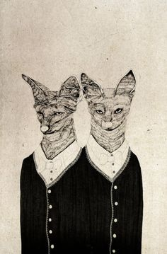 Anthropomorphism Art... 2headedsnake//    maydaybird.deviantart.com