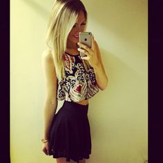 Crop top and skirts now in store