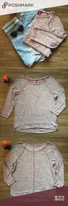 LOFT Stripped Top! Super soft LOFT Stripped top with 3/4 length sleeves.      • Size S                                                                                    • Like New LOFT Tops